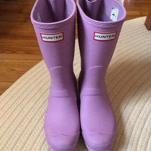 Hunter Women's Matte Short Adjustable Rain Boots